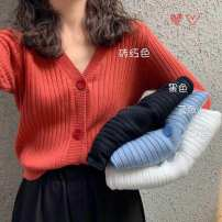 sweater Spring 2021 S,M,L,XL Sky blue, black, orange, white, bean green other 30% and below cotton
