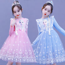 Dress female Other / other The recommended height is about 90cm for size 100, 100cm for Size 110, 110cm for Size 120, 120cm for Size 130, 130cm for size 140 and 140cm for size 150 Cotton 100% princess Cartoon animation cotton Princess Dress Class A Chinese Mainland