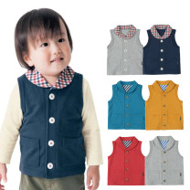 Vest male Grey, dark blue, red, lake blue, yellow and grey 80cm,90cm,100cm Other / other spring and autumn routine No model Single breasted leisure time cotton Solid color Cotton 100% 80-100 Class A Chinese Mainland 6 months, 12 months, 9 months, 18 months, 2 years, 3 years, 4 years