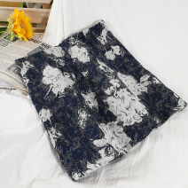 skirt Summer 2021 S,M,L Black, blue Short skirt commute High waist A-line skirt other Type A 18-24 years old 51% (inclusive) - 70% (inclusive) Wool polyester fiber Korean version