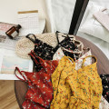 Dress Summer 2020 Yellow, apricot, red, black Average size Mid length dress singleton  Sleeveless commute V-neck High waist Decor Socket other other Others 18-24 years old Type A Other / other Korean version 51% (inclusive) - 70% (inclusive) Chiffon