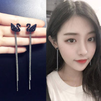 Earrings Alloy / silver / gold 30-39.99 yuan DODOGOGO Black Swan Earrings S925 silver needle Black Swan ear clip without ear hole White Swan Earrings S925 silver needle white swan ear clip without ear hole brand new female Japan and South Korea goods in stock Fresh out of the oven Bear / pig / animal