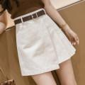 skirt Summer 2021 S,M,L,XL,2XL Khaki, apricot, black Short skirt commute High waist Irregular Solid color Type A 18-24 years old 31% (inclusive) - 50% (inclusive) Korean version