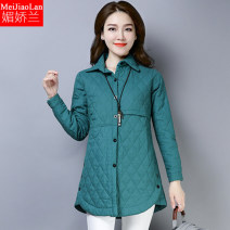 Women's large Winter 2020 Green Khaki purple M L XL XXL 3XL cotton-padded clothes singleton  commute easy thickening Cardigan Long sleeves ethnic style square neck Medium length M9098 Melanie Other 100% Pure e-commerce (online only)