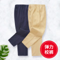 trousers Vimet neutral 110cm 120cm 130cm 140cm 150cm 160cm 170cm 180cm No season trousers college No model Casual pants Leather belt middle-waisted Cotton blended fabric Don't open the crotch Cotton 97% polyurethane elastic fiber (spandex) 3% 028CK13 Class B Summer 2020