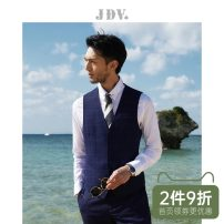Vest / vest Business gentleman J.D.V 165/84A/XS 170/88A/S 175/92A/M 180/96A/L 180/100A/XL 185/104A/XXL blue go to work Self cultivation Vest routine spring V-neck youth Business Formal  SFV9902 Single breasted Slant hem other Thread embedding and bag digging Spring of 2019