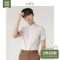 shirt Business gentleman J.D.V 165/84A/XS 170/88A/S 175/92A/M 180/96A/L 180/100A/XL 185/104A/XXL white routine Pointed collar (regular) Short sleeve Self cultivation go to work spring SIZ0924 youth Polyester 96% polyurethane elastic fiber (spandex) 4% Business Formal  Spring 2020