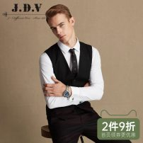 Vest / vest Business gentleman J.D.V 180/100A 185/104A 165/84A 170/88A 175/92A 180/96A Dark red go to work Self cultivation Vest routine autumn youth Business Formal  Single breasted Slant hem wool Wool 70.7% viscose (viscose) 29.3% Thread embedding and bag digging Autumn of 2019