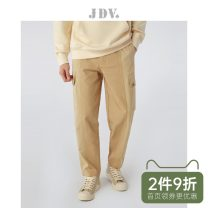 Casual pants J.D.V Fashion City Khaki routine trousers Other leisure Straight cylinder Micro bomb youth middle-waisted Cotton 100% Overalls cotton Autumn 2020 Same model in shopping mall (sold online and offline) More than 95%