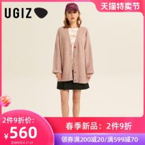Wool knitwear Spring 2021 F Pink / IP light green / Le Long sleeves singleton  Cardigan other More than 95% Medium length routine commute easy V-neck routine Solid color Single breasted Korean version UADE119 25-29 years old UGIZ Other 100% Same model in shopping mall (sold online and offline)