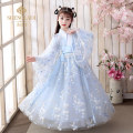Tang costume R09 blue + send blue drape silk R09 blue + blue jade big sleeve shirt Polyester 100% female No season There are models in the real shooting Saint Latisse Broken flowers SLD219971 Spring 2021