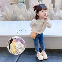 Sweater / sweater 90cm 100cm 110cm 120cm 130cm 140cm other female Beige black purple yellow orange Tongsen Tongma Korean version There are models in the real shooting Socket Thin money Crew neck nothing Ordinary wool Solid color Other 100% TSXP1807-1 Class B Long sleeves Spring 2021 spring and autumn