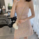 Dress Summer 2020 Picture color S,L,M Short skirt singleton  Sleeveless commute High waist Socket A-line skirt camisole Type A Other / other Retro H822