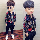 shirt Floral Shirt Floral Shirt Plush version Smart and naughty male 80cm 90cm 100cm 110cm 120cm 130cm 140cm 150cm spring and autumn Long sleeves Korean version Broken flowers cotton Lapel and pointed collar Cotton 95% polyurethane elastic fiber (spandex) 5% IHwm72 Class B