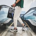 Casual pants 5I Youth fashion white M thin Micro bomb Zhijiang A209 K065 Cotton 80% polyester 20% Summer of 2018 Pure e-commerce (online only)