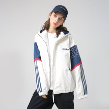 short coat Fall of 2018 M L XL 2XL White green Long sleeve conventional conventional Single Loose conventional street Hooded zipper Other / other