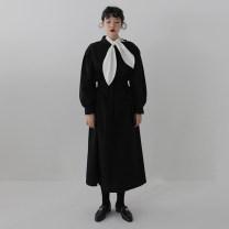 Fashion suit Autumn 2020 Average size Black dress, white shirt Other / other