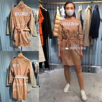 Dress Spring 2021 Credit card payment 1 % Service Charge , Do not support return, please confirm the order , Default simple package (no purchasing ticket) four , six , eight , ten , twelve , fourteen , Take a note of the number of yards Middle-skirt singleton  Long sleeves street other High waist
