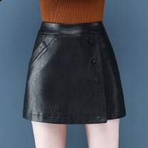skirt Autumn 2020 S,M,L,XL,XXL Apricot, black, caramel Short skirt commute High waist A-line skirt Solid color 25-29 years old ML9076KKM43 81% (inclusive) - 90% (inclusive) Other / other Viscose Three dimensional decoration, asymmetry, buttons, stitching Korean version