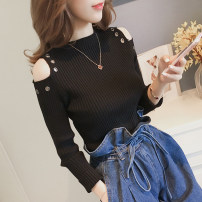 Wool knitwear Spring of 2018 One size (high quality fabric) Yellow, black, brown, off white, brick red Long sleeves singleton  Socket other 30% and below Regular routine commute Self cultivation Low crew neck routine Solid color Socket Korean version HBYP2018662 18-24 years old Other / other