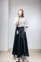 skirt Summer 2021 XS/150,S/155,M/160,L/165,XL/170 Brown Khaki / 281, Ben Black / 001 JNBY / Jiangnan cloth clothing