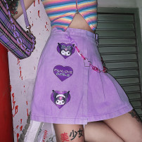 skirt Summer 2020 S code, M code, l code Purple (without matching chain) Short skirt Sweet High waist A-line skirt Decor Type A 18-24 years old More than 95% other Other / other printing college