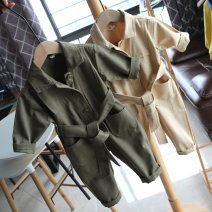 Jumpsuit / climbing suit / Khaki Other / other Class B neutral Baby / lace up long sleeve Jumpsuit apricot, baby / lace up long sleeve Jumpsuit army green Code 5 / 80cm, code 7 / 90cm, code 9 / 95cm, code 11 / 100cm, code 13 / 110cm, code 15 / 120cm cotton spring and autumn Long sleeves Long climb