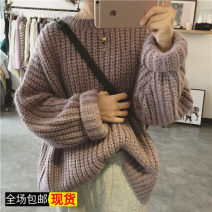 Wool knitwear Autumn of 2019 Average size Long sleeves singleton  Socket other 31% (inclusive) - 50% (inclusive) Medium length thick easy High collar routine Solid color Socket Other / other