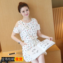 Dress Summer of 2019 Picture color S. M, l, XL, 2XL, 3XL, XXXs pre-sale Middle-skirt singleton  Short sleeve commute other Elastic waist other Socket A-line skirt other Others Type A Other / other Korean version Embroidery 81% (inclusive) - 90% (inclusive) other