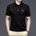 T-shirt Fashion City Black, watermelon red, white, mint green, post green thin 170/M(48),175/L(50),180/XL(52),185/XXL(54),190/3XL(56) Super male Short sleeve Lapel standard daily summer TX21302 middle age Business Casual 2021 Assembly No iron treatment