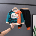 suit Other / other Purple, blue male spring and autumn leisure time Long sleeve + pants 2 pieces routine No model Socket nothing cotton elder Expression of love 568qcq13 Class B 6 months, 12 months, 9 months, 18 months, 2 years old, 3 years old, 4 years old, 5 years old, 6 years old, 7 years old