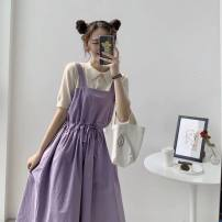 Fashion suit Spring 2021 S,M,L,XL,XXL One piece jacket, one-piece suspender skirt, top + suspender skirt suit 18-25 years old Other / other 666 633 96% and above polyester fiber