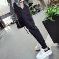 Casual pants Black 9050, black 9056, black 9141# L,XL,2XL,3XL,4XL Winter of 2019 Ninth pants Haren pants Natural waist commute 96% and above Other / other cotton Korean version cotton