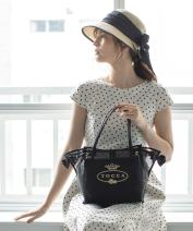 Bag The single shoulder bag polyester fiber Tote Bag TOCCO Black, lavender brand new Japan and South Korea in leisure time soft Magnetic buckle no Solid color Single root One shoulder hand nothing youth Shopping bag printing Soft handle polyester fiber inside pocket with a zipper Inner patch pocket