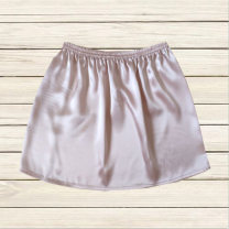 skirt Summer 2021 S,M,L,XL Pink [35 long], pink [40 long], pink [45 long], pink [55 long], pink [65 long], pink [80 long] Mid length dress Versatile Natural waist A-line skirt Solid color Type A More than 95% Silk and satin silk Elastic waist