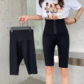 Women's large Spring 2021, summer 2021 Simple high waist pants, breasted waist pants, breasted waist Capris, simple high waist Capris M [recommended 80-100 Jin], l [recommended 100-120 Jin], XL [120-140 Jin], 2XL [140-160 Jin recommended], 3XL [160-180 Jin recommended], 4XL [180-200 Jin recommended]
