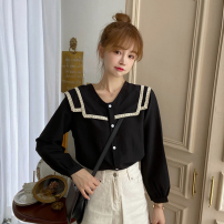 Women's large Autumn 2020 black M [within 100], l [100-120 kg], XL [120-140 kg], 2XL [140-160 Jin], 3XL [160-180 Jin], 4XL [180-200 Jin recommended] singleton  other Straight cylinder moderate Long sleeves Solid color other polyester Three dimensional cutting other
