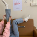 Jeans Spring 2021 Light blue, dark blue, soot S,M,L Ninth pants High waist Straight pants routine 18-24 years old Washable, button, multi pocket, other light colour 8603#