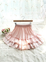 skirt Spring 2016 Average size White, black Short skirt Sweet Natural waist Princess Dress Solid color Type A 30% and below other other Flounce, bright silk, fold, Auricularia auricula, gauze net, stitching, lace Lolita