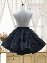 skirt Summer 2017 Average size White, black Short skirt Sweet Natural waist Fluffy skirt Solid color Type A 30% and below other other Lolita