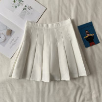 skirt Winter of 2019 XS,S,M,L Khaki, dark blue, pink, blue white, red black, pure white, pure black, dark grey Short skirt commute High waist Pleated skirt 18-24 years old I18681 81% (inclusive) - 90% (inclusive) Other / other Korean version