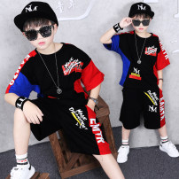 suit Other / other Red and blue, black suit, white suit 110cm,120cm,130cm,140cm,150cm,160cm,170cm,180cm male summer motion Short sleeve + pants 2 pieces Thin money There are models in the real shooting Socket nothing other cotton children Expression of love 9a08# + Class B Cotton 93% other 7%