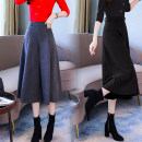 Casual pants Gray, black 3XL,S,M,L,XL,2XL Autumn of 2019 Cropped Trousers Wide leg pants High waist commute routine 51% (inclusive) - 70% (inclusive) SENN7258 Other / other Wool blended fabric polyester fiber