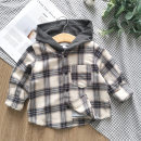 shirt Upgraded fabric with beige Plaid StarOne male 73cm,80cm,90cm,100cm,110cm,120cm,130cm,140cm,150cm spring and autumn Long sleeves leisure time lattice Pure cotton (100% cotton content) Cotton 100%