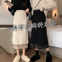 skirt Winter 2020 Average size Off white, black Mid length dress Versatile High waist Pleated skirt Solid color Type A 71% (inclusive) - 80% (inclusive) knitting Other / other other Mesh, resin fixation, stitching, lace 401g / m ^ 2 (inclusive) - 500g / m ^ 2 (inclusive)