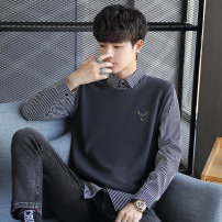 Jacket Other / other Youth fashion Black, white, grey M,L,XL,2XL,3XL routine Self cultivation Other leisure spring EDAAA907 Long sleeves Built in Lapel tide 2021 Closing sleeve