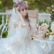 Dress Summer 2020 white S. M, l, XL, custom code (duration 30-45 days) Mid length dress Sweet middle-waisted Princess Dress other Others 18-24 years old Type A in an unbroken line tgjy Lolita