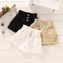 trousers Other / other female 80cm,90cm,100cm,110cm,120cm,130cm White, blue, black, light khaki, red plaid top, Black Plaid top, Pink Plaid top, green plaid top summer shorts Korean version No model Jeans Leather belt High waist cotton Open crotch Class B 80-130 Chinese Mainland Zhejiang Province