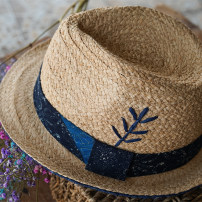 Hat Lafite blue M(56-58cm) Straw hat Spring, summer, autumn, winter leisure time Middle age, youth, youth dome Wide eaves 15-19 years old, 20-24 years old, 25-29 years old, 30-34 years old, 35-39 years old, 7-14 years old, 40-59 years old and above 60 years old Sticking cloth Travel Flat eaves Q72