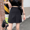 skirt Summer 2021 S,M,L Black, gray Short skirt commute High waist A-line skirt Solid color Type A 25-29 years old 71% (inclusive) - 80% (inclusive) zipper